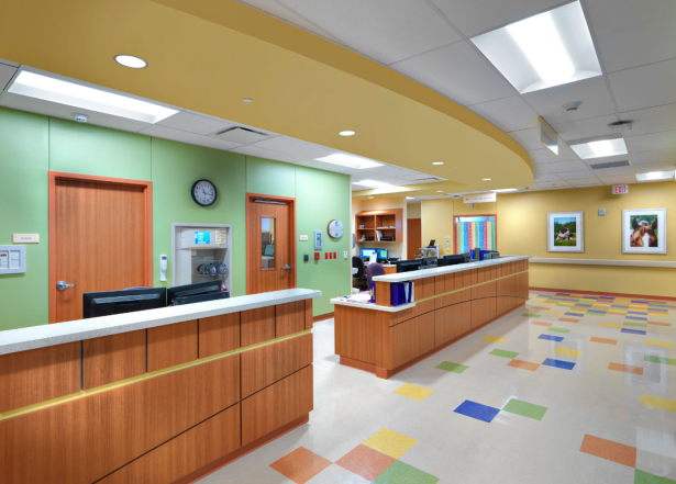 NMN Aug Blog.Facilitating Healing.Bright neutral colors at Skyridge Medical Center's Pediatric ED
