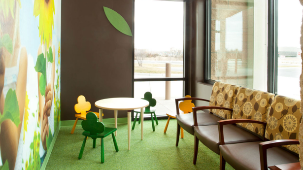 NMN Aug Blog.Facilitating Healing.Child-sized seating at Surgicare of Wichita